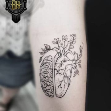 Black and Gray Tattoo Abstract Heart