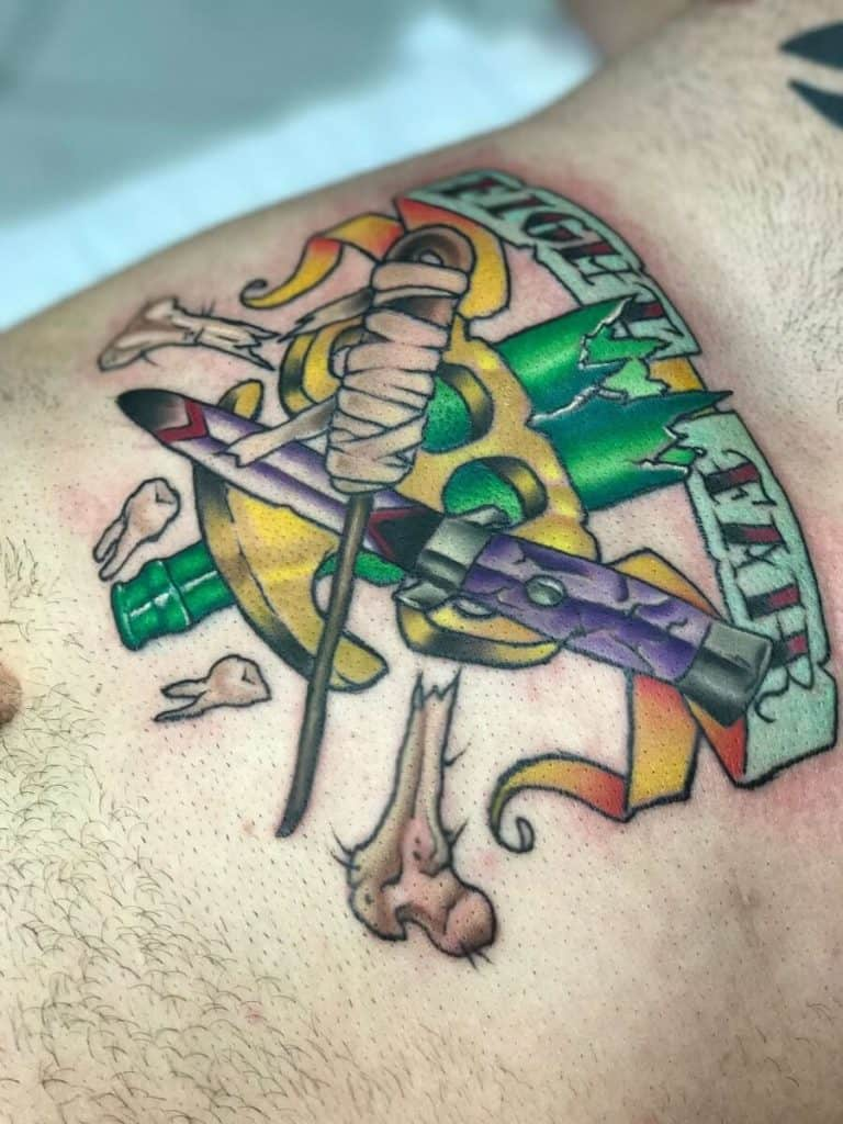 Color Work Tattoo Emblem