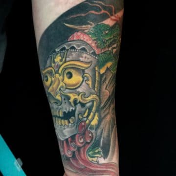 Color Work Tattoo Forearm