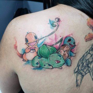 Color Work Tattoo Pokemon
