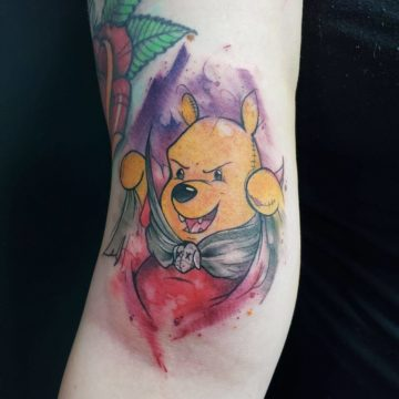 Color Work Tattoo Winnie the Pooh