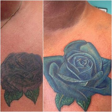 Cover Up Blue Flower