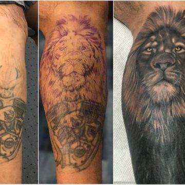 Cover Up Tattoo Lion