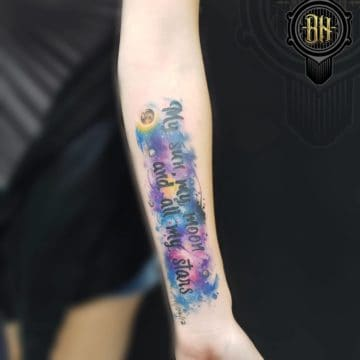 Water Color Forearm Tattoo